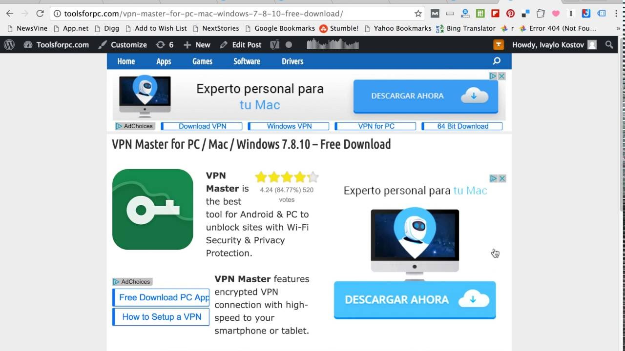 Download VPN Master for PC & MAC - YouTube