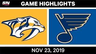 NHL Highlights   Predators vs. Blues – Nov. 23, 2019