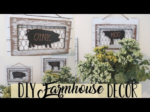 DIY Farmhouse Dollar Store Wall Decor | Farmhouse Home Decor DIY | Basket Wall Decor