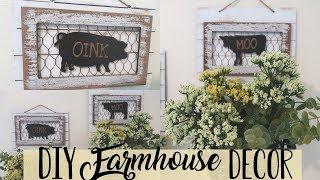 DIY Farmhouse Dollar Store Wall Decor | Farmhouse Home Decor DIY | Basket Wall Decor