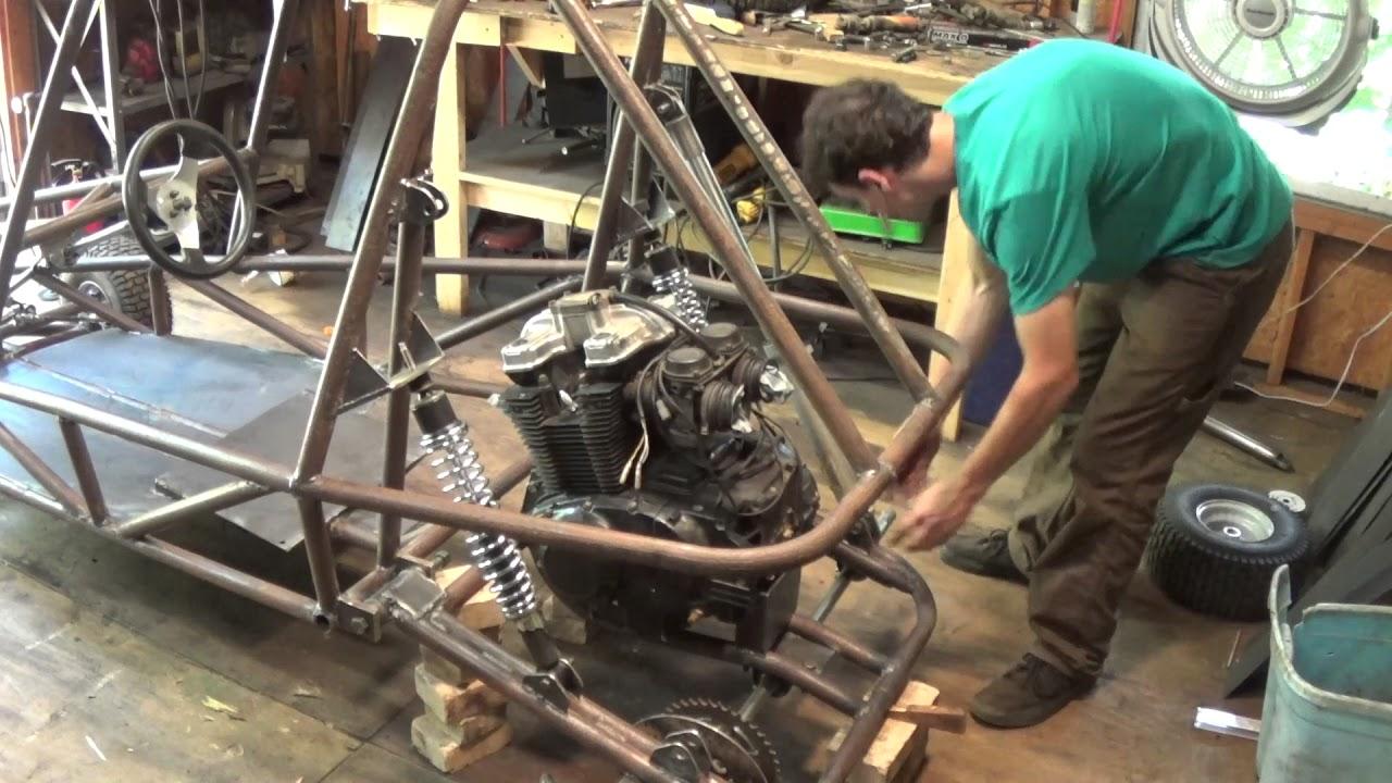 Suzuki gs500 mini buggy build part 5 - YouTube