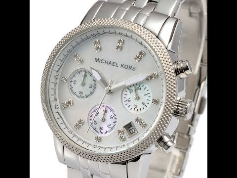 01353d7f61d3 MICHAEL KORS WATCH WOMEN MK5020 RITZ CHRONO MOTHER OF PEARL REVIEW マイケルコース  腕時計 シルバー レビュー レディース