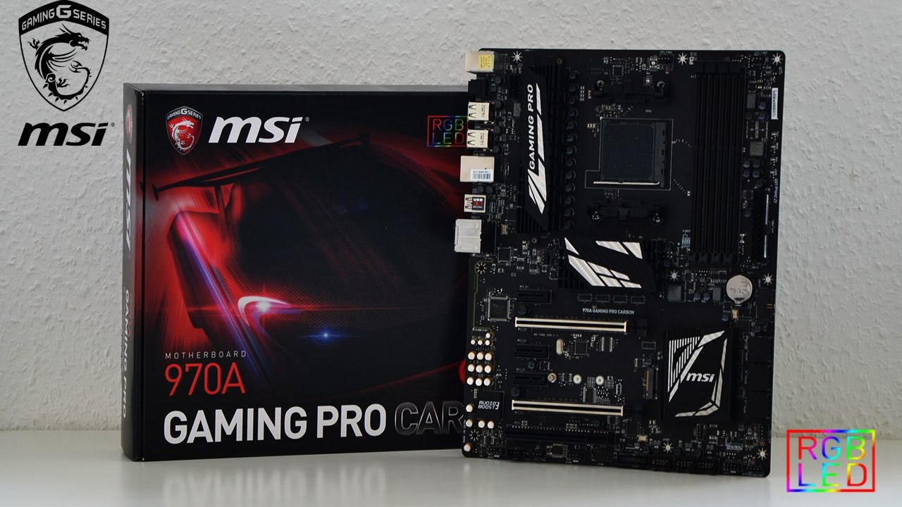 Msi Z270 Gaming Pro Carbon Hd Wallpaper: MSI 970A GAMING PRO CARBON Mainboard Unboxing