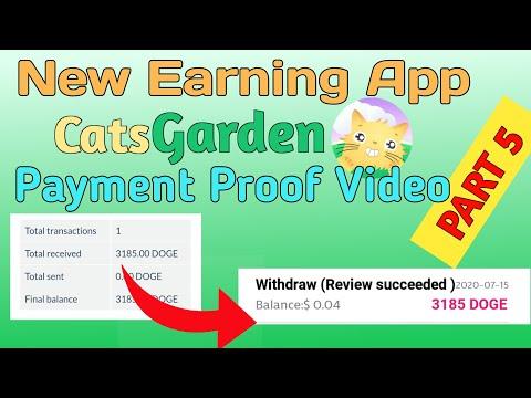 New Earning App CatsGarden App (PART 5) Payment Proof Video - YouTube