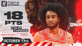 Coby White Full Highlights vs Toronto Raptors (2019.10.13) - 18 Pts, 4 Threes!