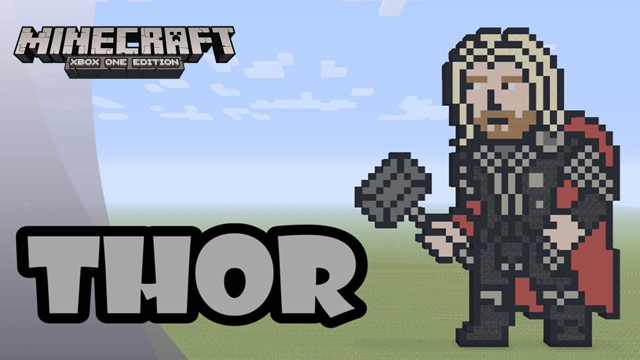 Minecraft Pixel Art Tutorial And Showcase Thor Thor Ragnarok