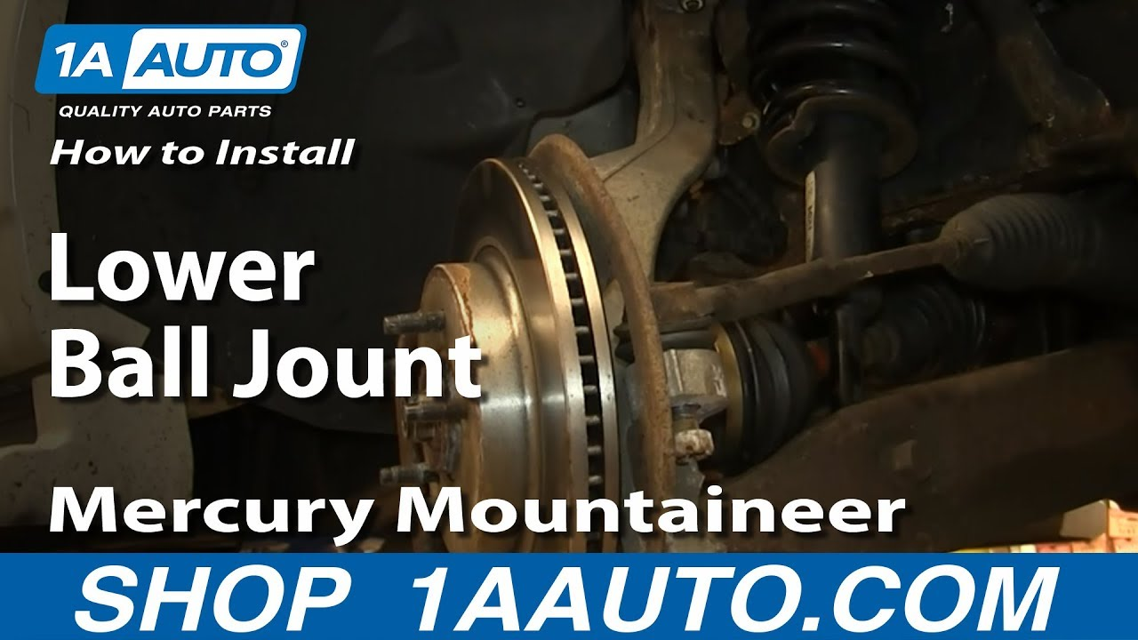 How To Install Replace Lower Ball Jount 1997 2010 Mercury 94 Buick Lesabre Wiring Diagram Mountaineer