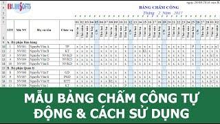 Mẫu bảng chấm công tự động trên Excel và cách chấm công nhanh hiệu quả trên Excel