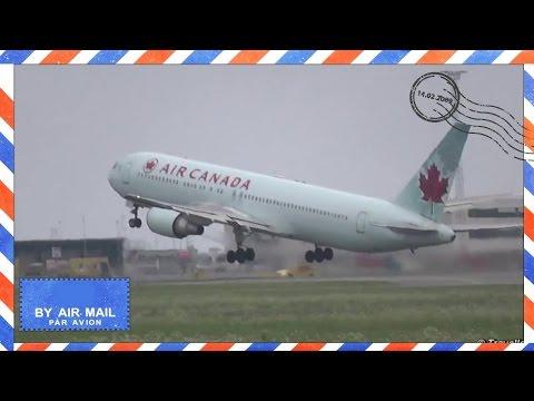 Air Canada Boeing 767 Takeoff from Copenhagen to Toronto - Flyvergrillen - C-GHLT - Flight AC883