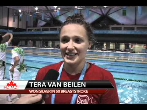 Team Canada Swimming - Tera van Beilen wins silver - 2011 Summer Universiade