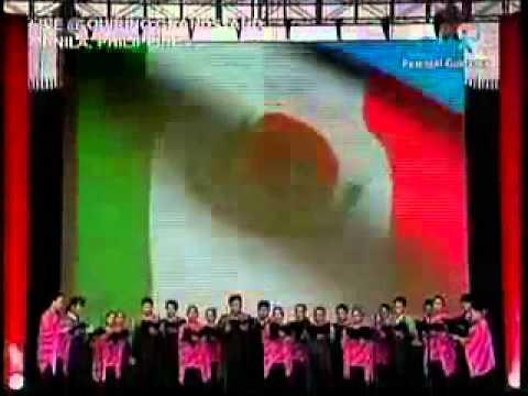 Coro Filipino cantada Himno Nacional Mexicano...