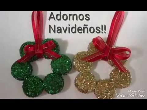Como hacer adornitos navide os con tapas de refresco - Como realizar adornos navidenos ...