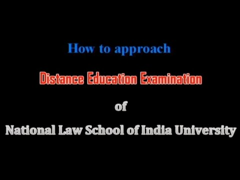 How to approach  Distance Education Examination