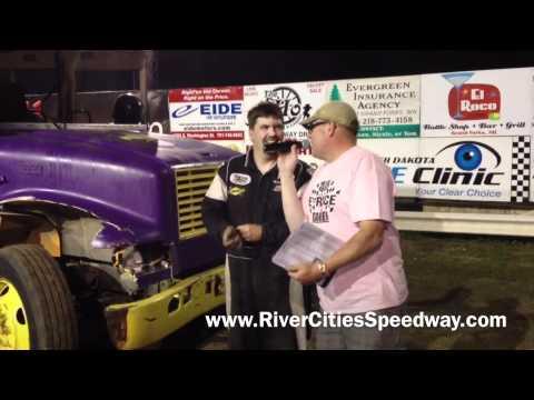 River Cities Speedway School Bus Racing Victory Lane Interview
