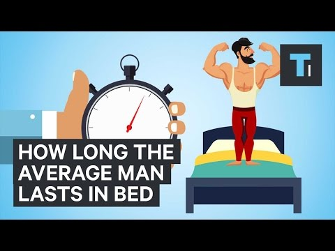 How long does the average guy last in bed