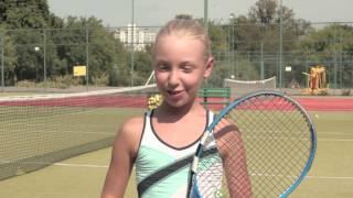 Школа Тенниса Фаворит в Киеве. Балобанова Алиса, 11 лет