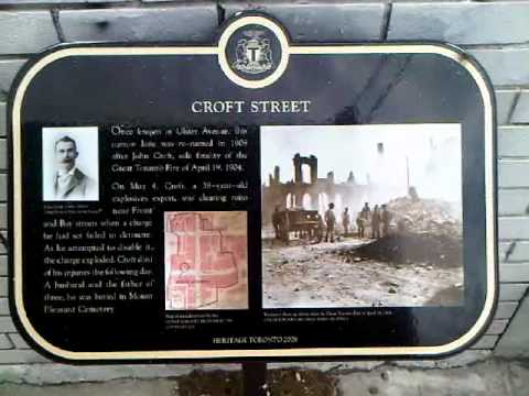 HiMY SYeD    The Great Toronto Fire of 1904, John Croft Mural and Heritage Toronto Historic Plaque, Croft Street, Toronto Ontario Canada, Tuesday April 19 2011   003