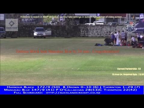 District Tournament Yr 11: Manukau Blue v Harbour Black