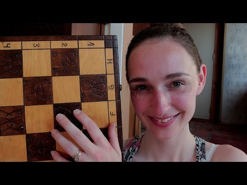 Super relaxing wooden Polish chess pieces ~ ASMR whispering EAR to EAR