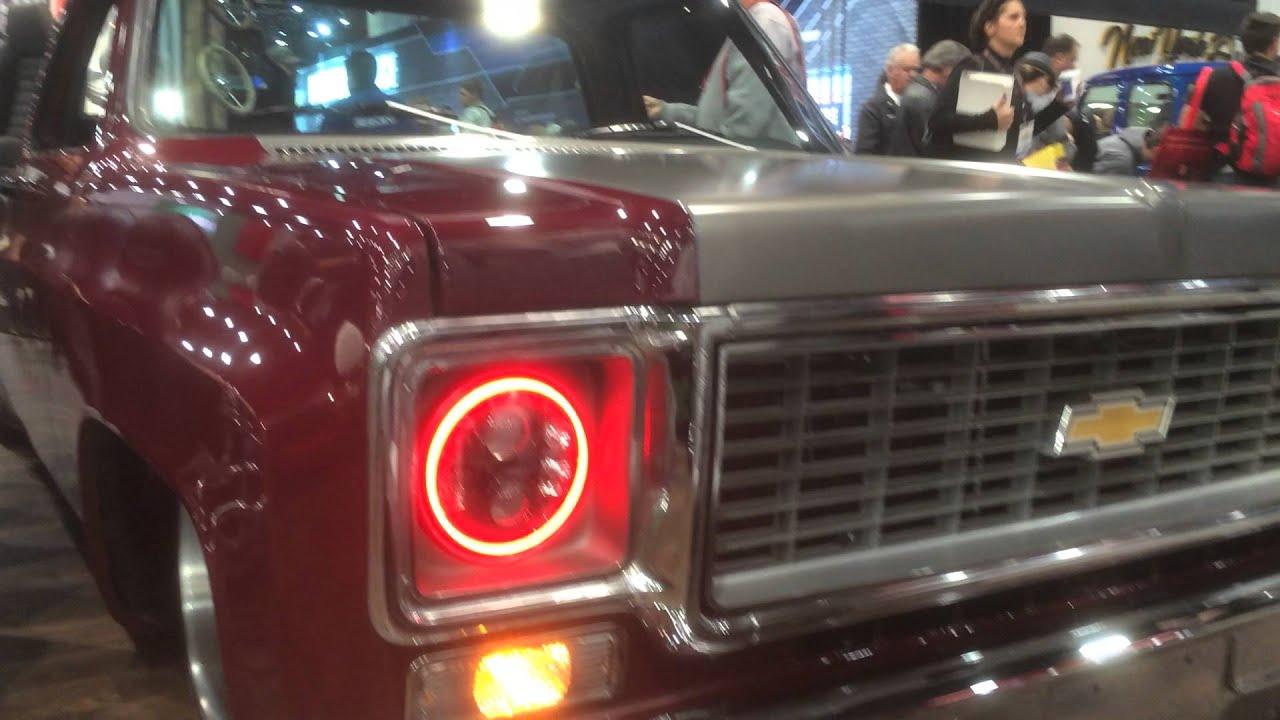 Hidprojectors c10 sema truck bi led pro7 headlights tmi products color changing halos