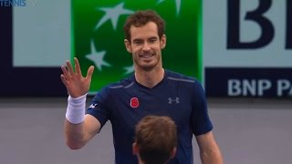 Murray vs Ball kids exibition | Paris Open 2016