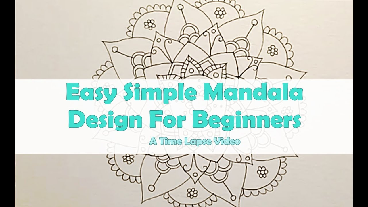Draw A Simple Mandala Design For Beginners  Part 1