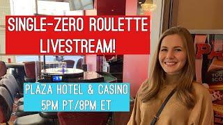 FIRST EVER Single-zero Roulette Livestream!! $1000 Buy-in!