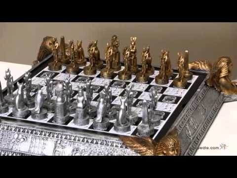 3D Egyptian Pewter Chess Set - Product Review Video
