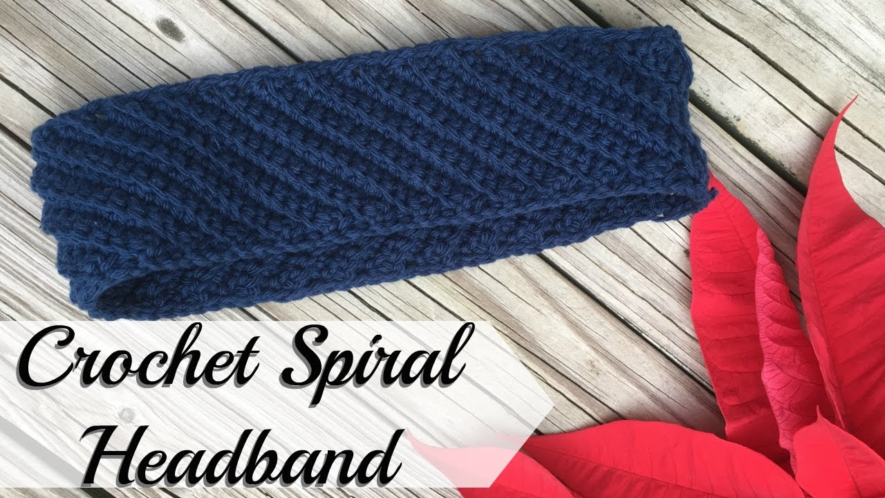 Crochet Spiral Headband (See description for updated version) - YouTube ee6e9c13fb3