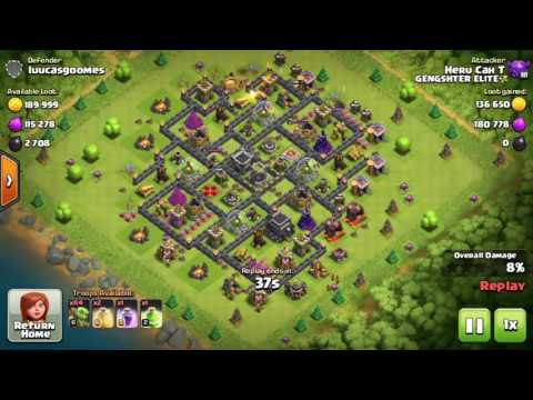 200 Goblin | Goblin Knife Farming Strategy for TH9 | Clash Of Clans