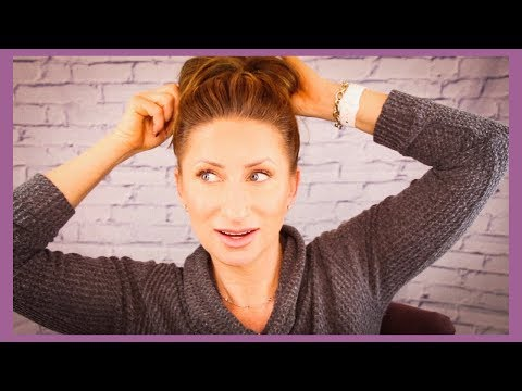 5 min or Less Messy Bun Hair Tutorial Over 40 LisaSz09