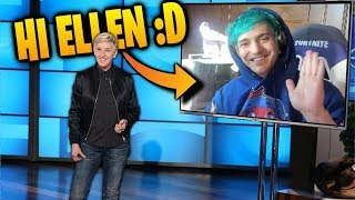 Ellen Degeneres Calls Ninja LIVE On Stream! Fortnite Funny & Best Moments