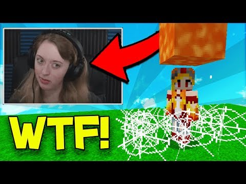 TROLLING GIRL YOUTUBER WHILE SHE'S LIVE! (Minecraft Trolling)