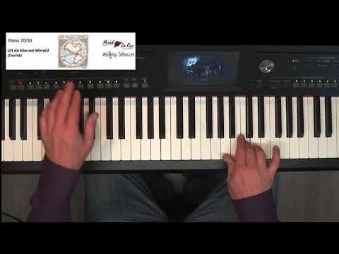 Piano Course 50 free lessons, nr. 20, Uit de Nieuwe Wereld, Dvorak   Sheet bladmuziek