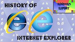 HISTORY OF MICROSOFT INTERNET EXPLORER (1.0-11.0)
