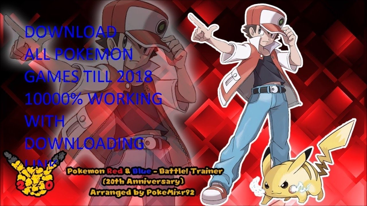 ALL POKEMON GAMES UPTO 2018!! WITH DOWNLOAD LINK
