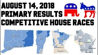 August 14, 2018 Primary Results - Competitive House Races - Minnesota, Wisconsin, Connecticut