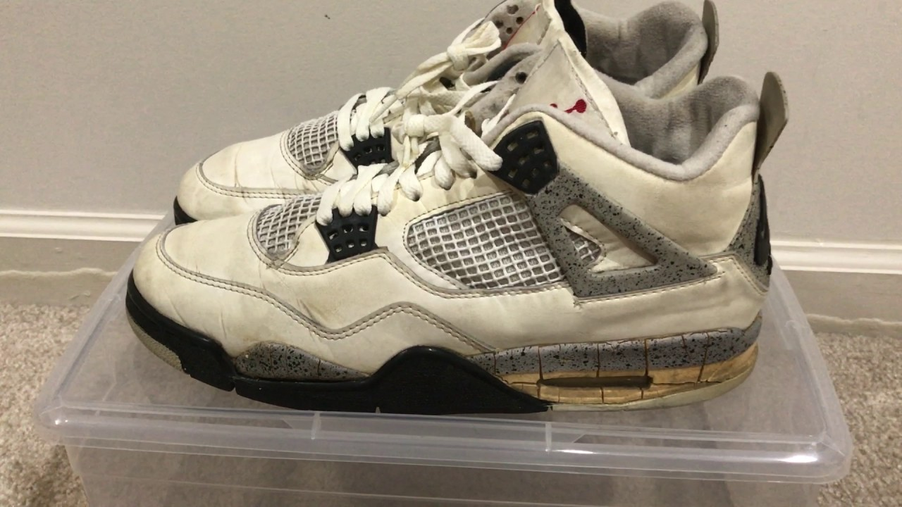 low priced aef96 d34ad Original 1989 Air Jordan 4 White Cement Review