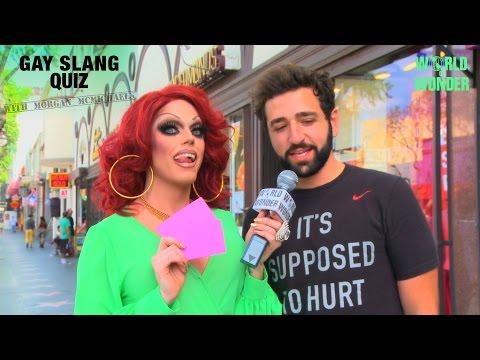 Morgan McMichaels' Gay Slang Quiz On Hollywood Blvd.