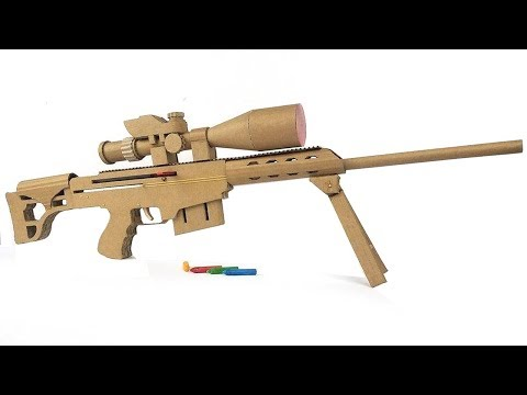 Thumbnail: How To Make Cardboard Sniper That Sh00ts - With Magazine