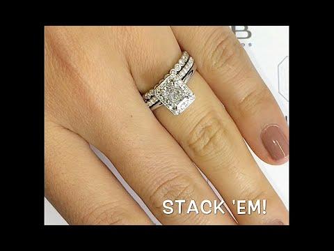 1 Carat Radiant Cut Diamond Halo Engagement Ring Youtube