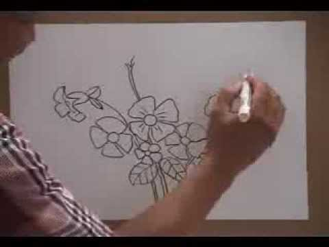 Melukis Bunga Kupu Kupu Title 01 011 Youtube
