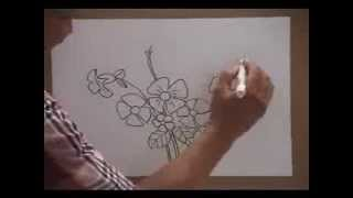 Gambar Lukisan Bunga Dan Rama Rama Rafi Gambar
