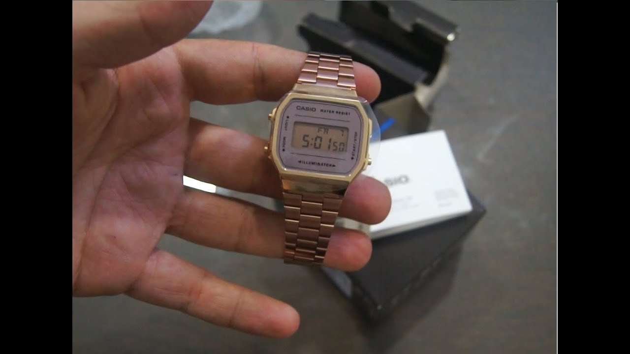 New Retro Casio Collection A168WECM-5EF - YouTube 4662f7d759
