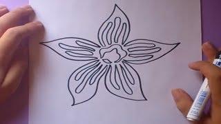 Como dibujar una flor paso a paso 2 | How to draw a flower 2