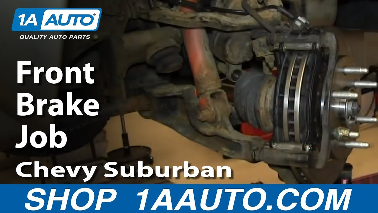 How to Replace Front Brakes 00-06 Chevy Suburban - YouTube