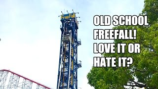 Old School Free Fall Rides... Love it or Hate it? 60FPS Nagashima Spaland Freefall POV