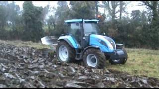 Landini Powermondial Tractor Ploughing