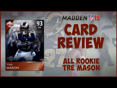 Madden 15 Ultimate Team | MUT 15 Card Review : All Rookie Tre Mason