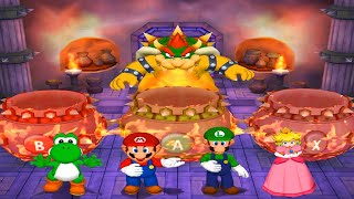 Mario Party 5 Minigames - Yoshi vs Mario vs Peach vs Luigi